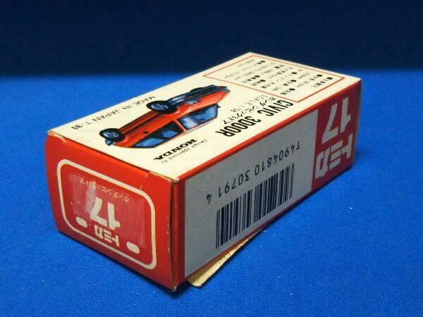 トミカ No.17 ホンダ シビック3ドア(ホワイト×ブルー×イエロー/#14) II ADO CONPANY特注 赤箱 ロゴ赤字 日本製_画像2