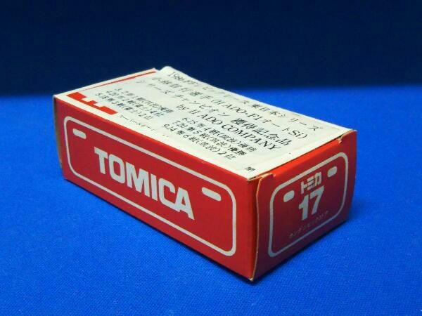 トミカ No.17 ホンダ シビック3ドア(ホワイト×ブルー×イエロー/#14) II ADO CONPANY特注 赤箱 ロゴ赤字 日本製_画像1