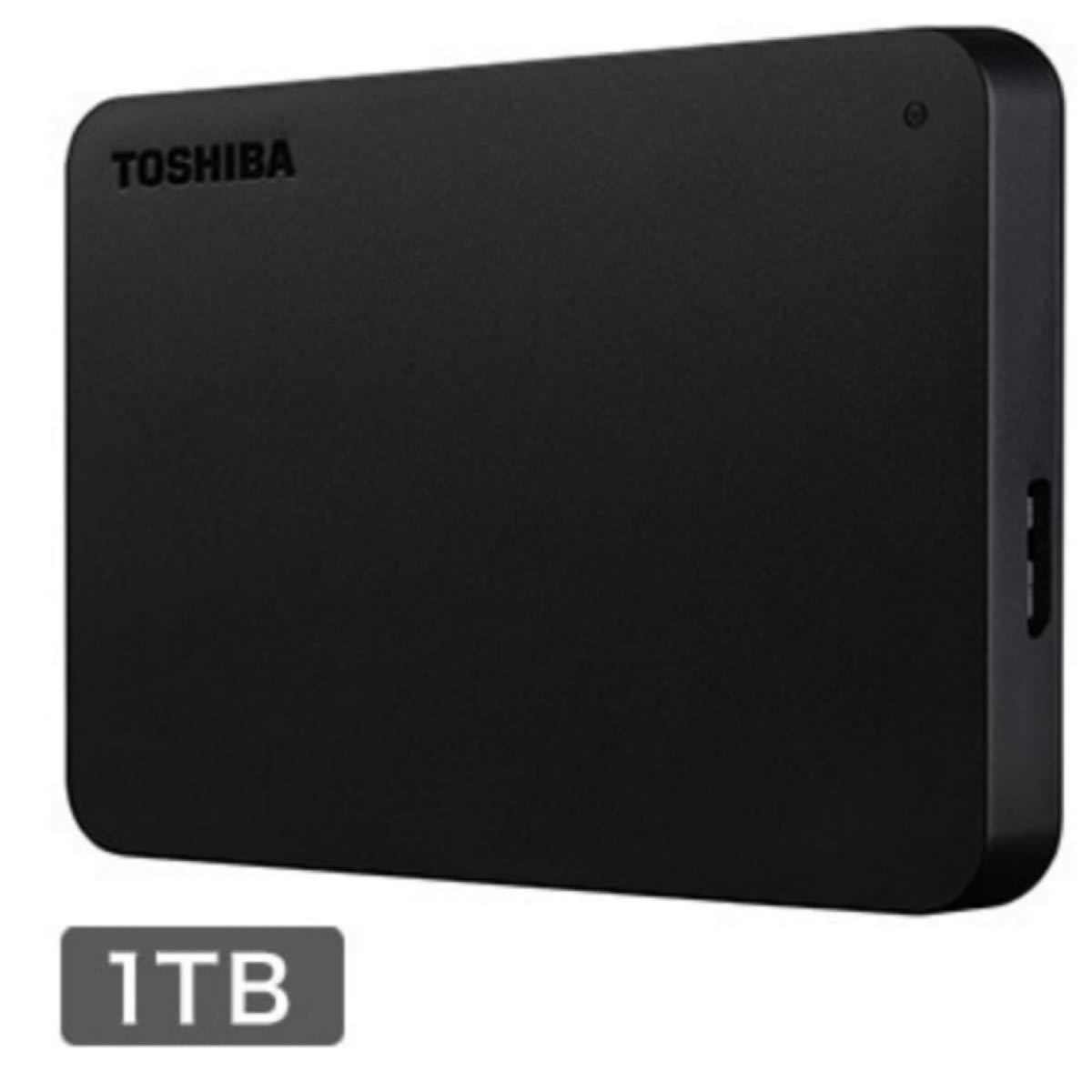 東芝 外付けポータブルハードディスク 1TB ブラックHDAD10AK3-FP