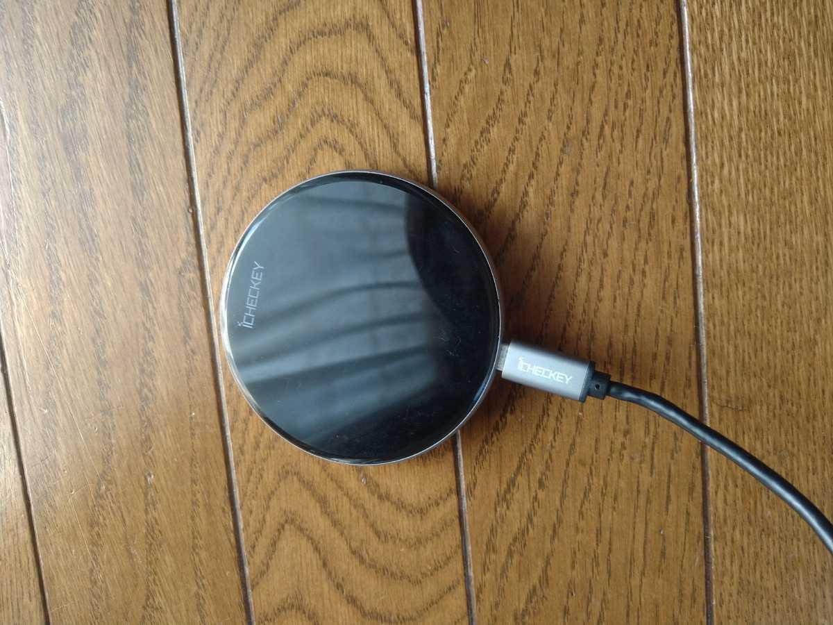 ワイヤレス充電器 iPhone Android ブラック Qi充電器 急速15W_画像1