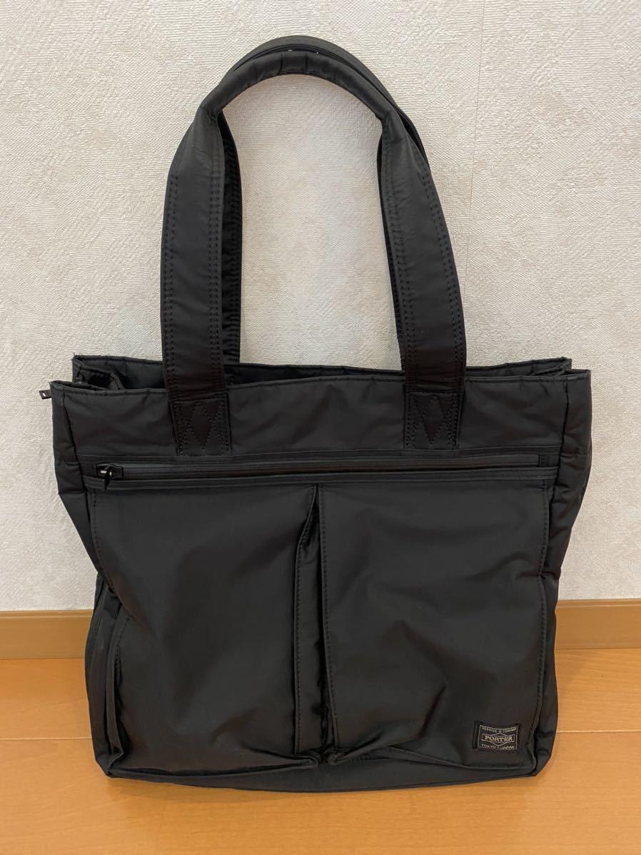 吉田カバン PORTER トートバッグ トライブ 2WAY ショルダーバッグ ブラック 品番383ー16800-10_画像1