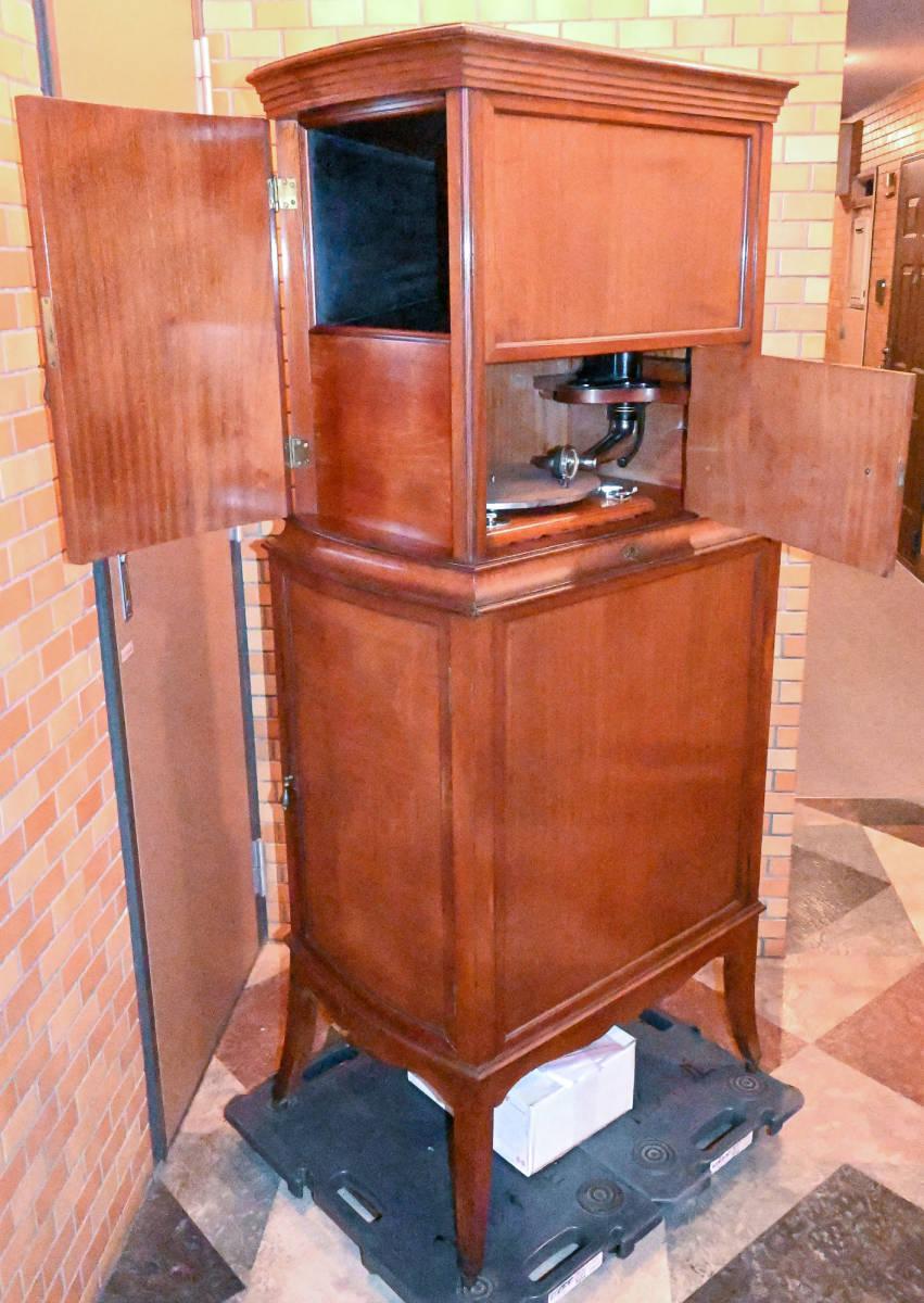 1910年 世界に1台 Gramophone Co.特注 (Bijou Grand) イギリス旧名家 junior monarchと同じモーター使用 Exhibition Soundbox付
