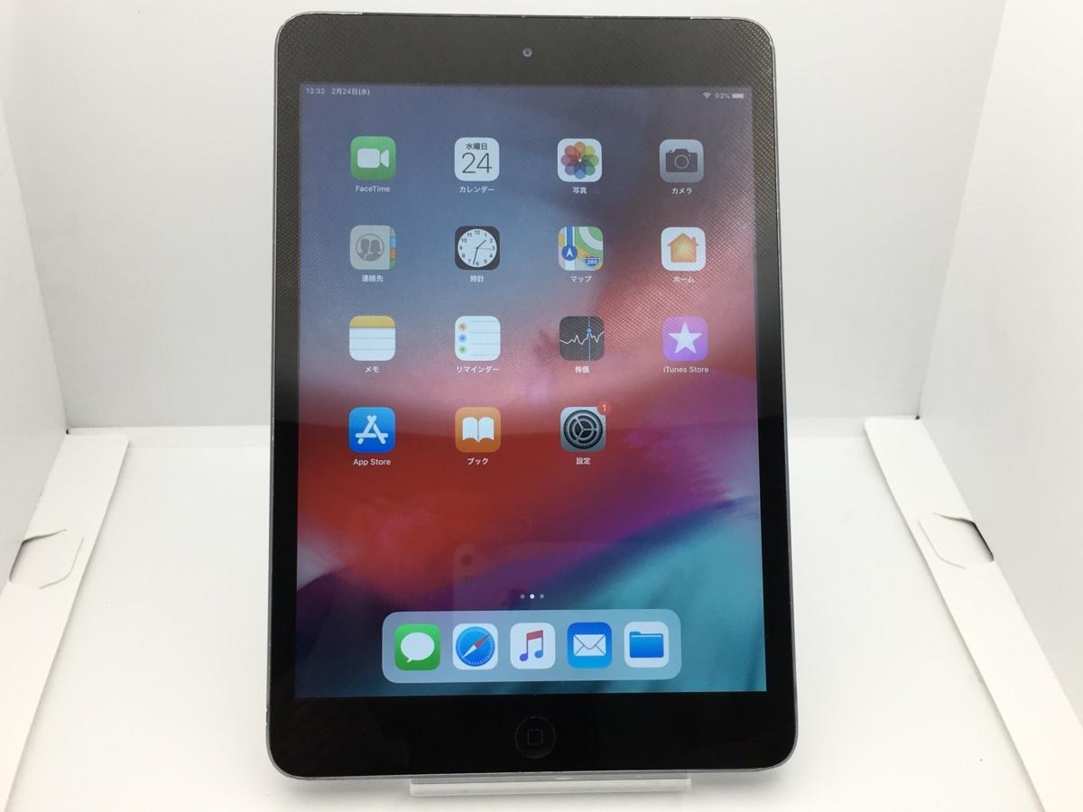 【中古・安心保証30日付】 液晶浮き Apple iPad mini 2 R Wi-Fi+C 16GB docomo グレイ NW利用制限〇 本体 8
