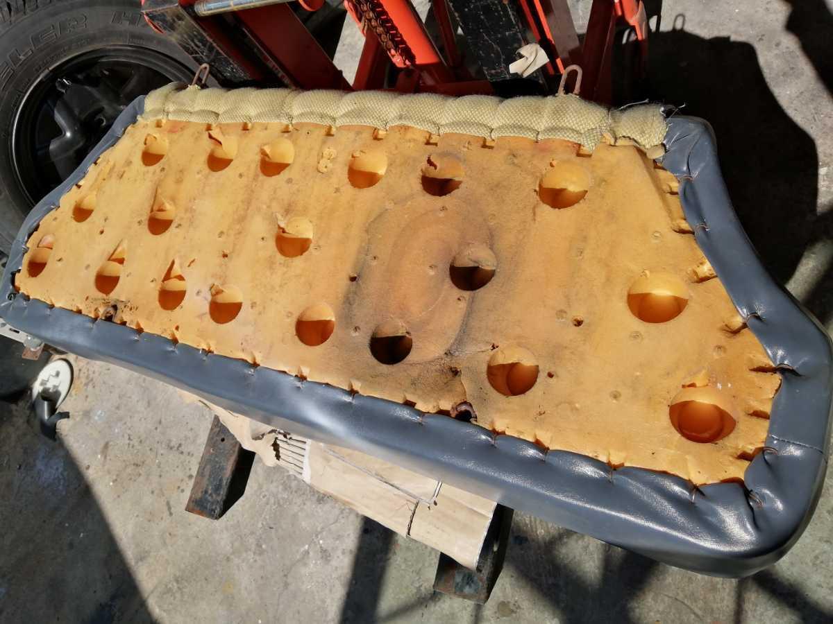 アウトビアンキ AUTO Bianchi アバルト ジュニア用 リアシート座面 ファブリックシート 貴重 イタリアから取寄せた中古品_画像7