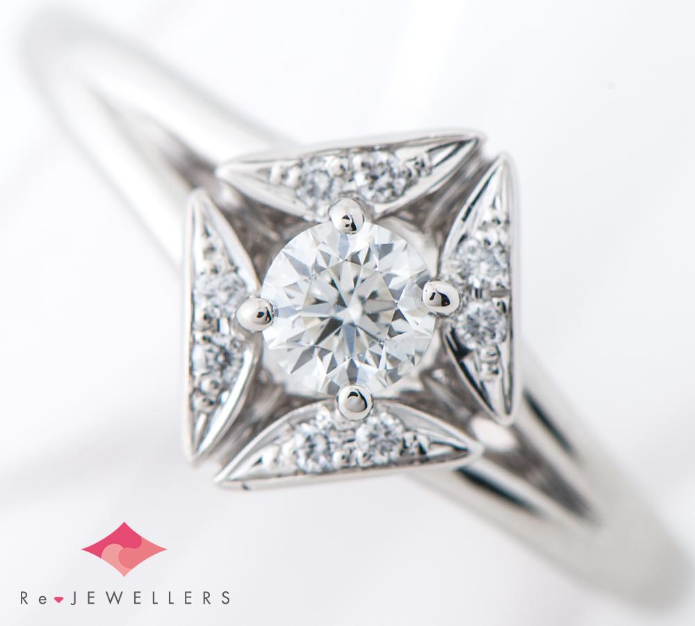 フォーエバーマーク エターナル ソリティア ダイヤモンド0.19ct ダイヤモンド 計0.03ct プラチナ900 9号 リング・指輪【中古】_画像1