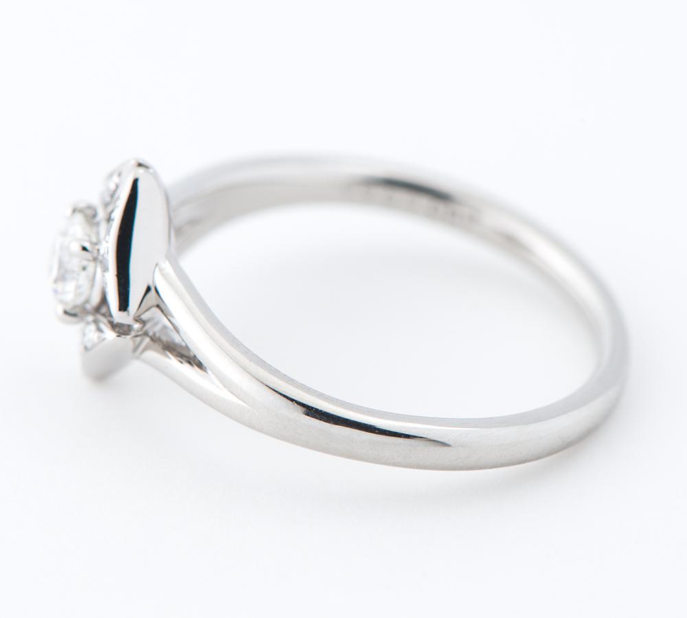 フォーエバーマーク エターナル ソリティア ダイヤモンド0.19ct ダイヤモンド 計0.03ct プラチナ900 9号 リング・指輪【中古】_画像3