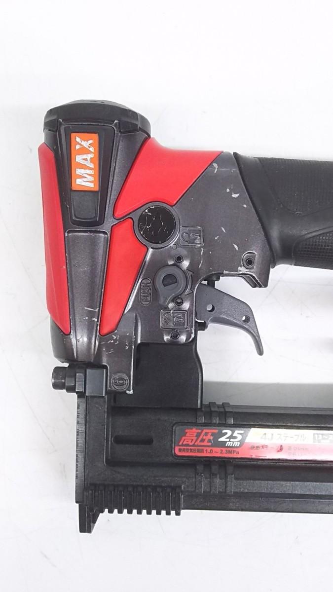 【中古品】MAX 釘打機高圧ステープル用 エアネイラ HA-25/4J  ITNGN5NF9A9W_画像4