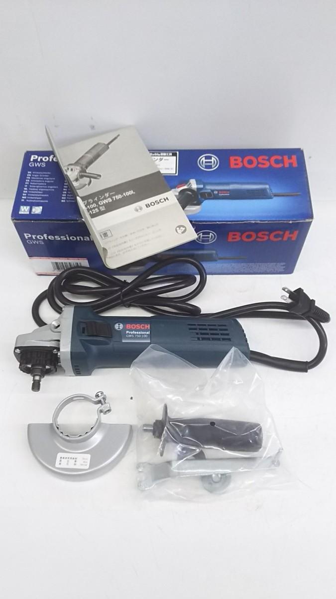 【未使用品】BOSCH(ボッシュ) 100mmディスクグラインダー GWS750-100  ITXBFCL060EQ_画像1