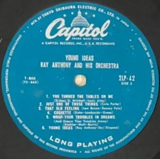 ♪試聴♪Ray Anthony And His Orchestra / Young Ideas_画像5