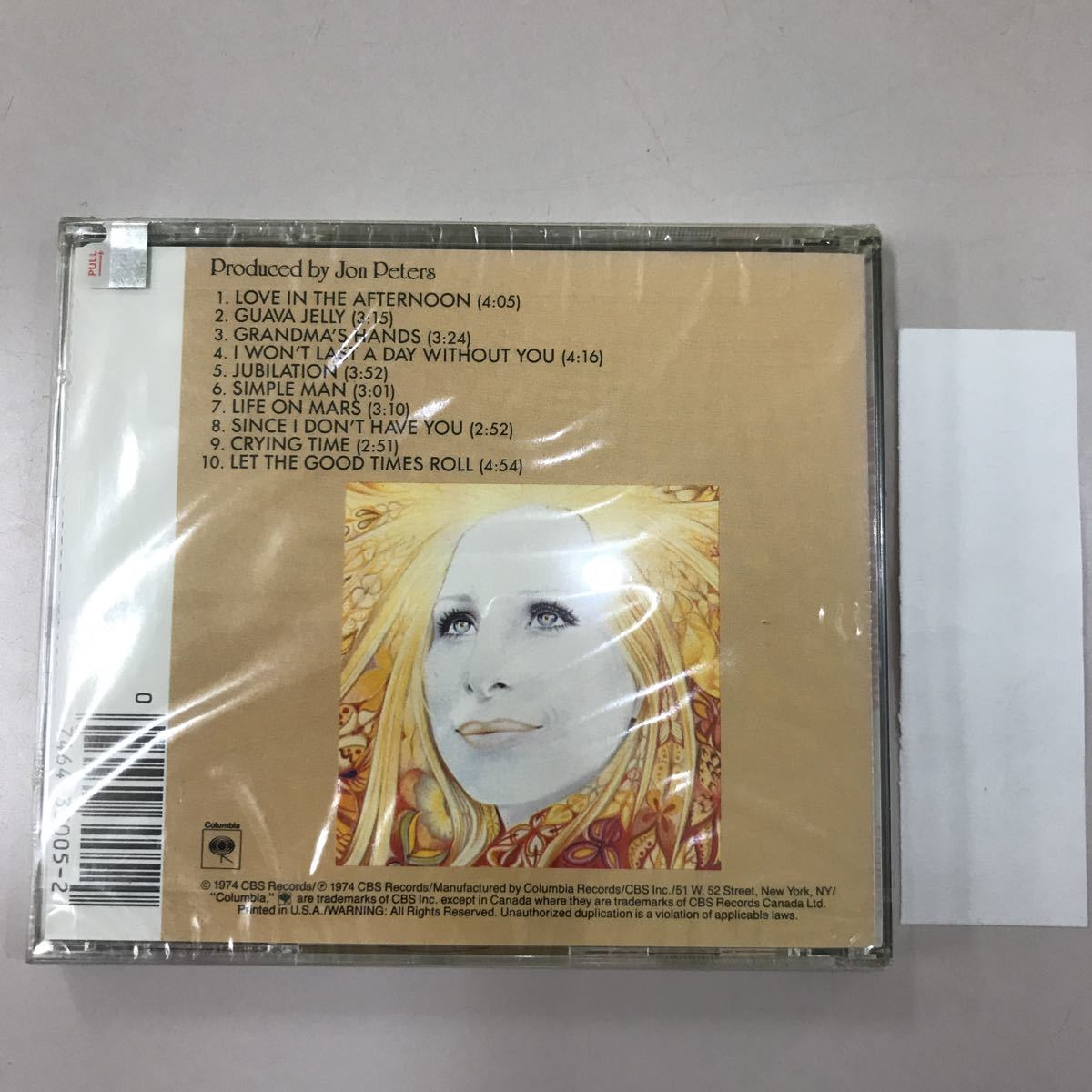 CD 輸入盤未開封【洋楽】長期保存品 BARBRA STERISAND
