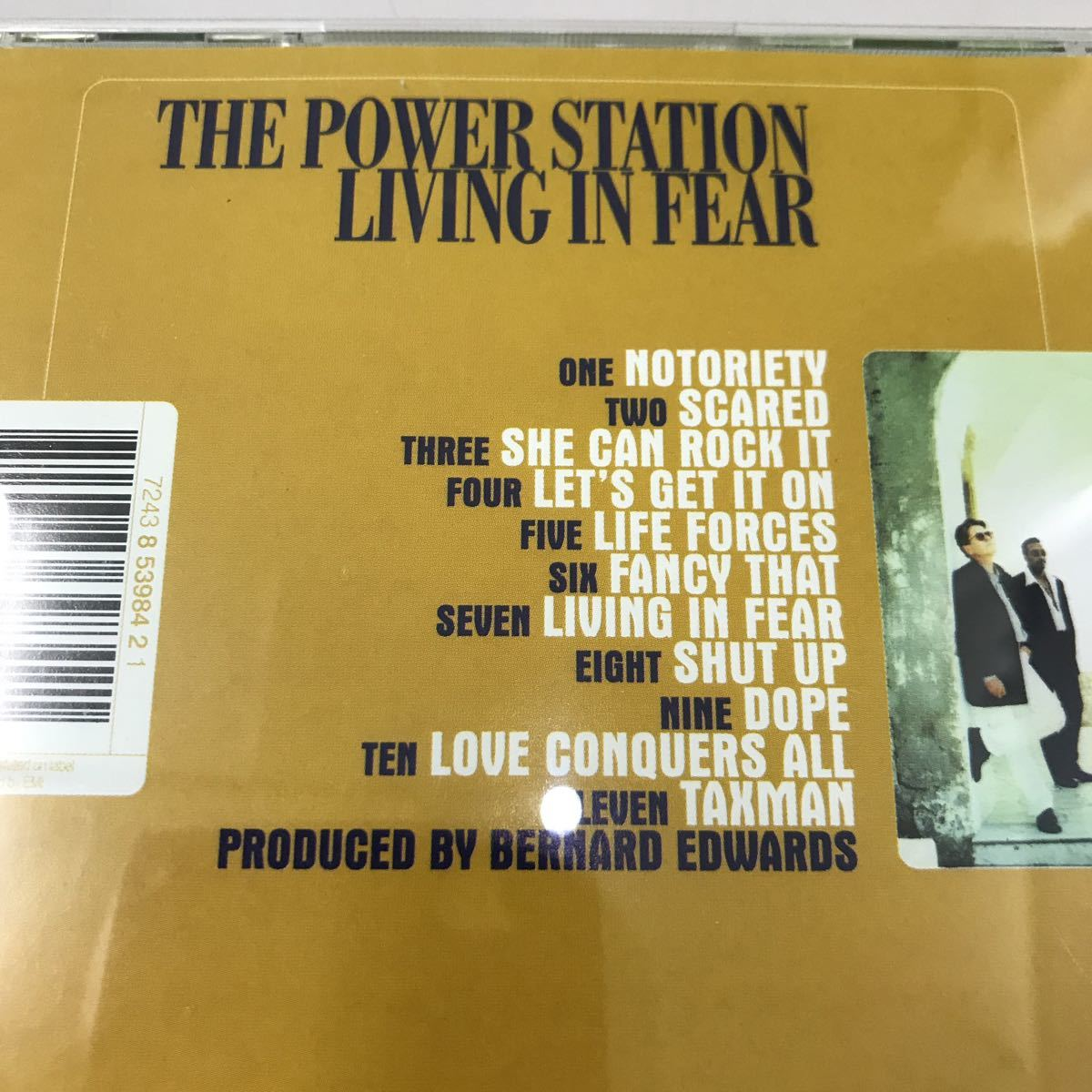 CD 中古☆【洋楽】THE POWER STATION LIVING IN FEAR