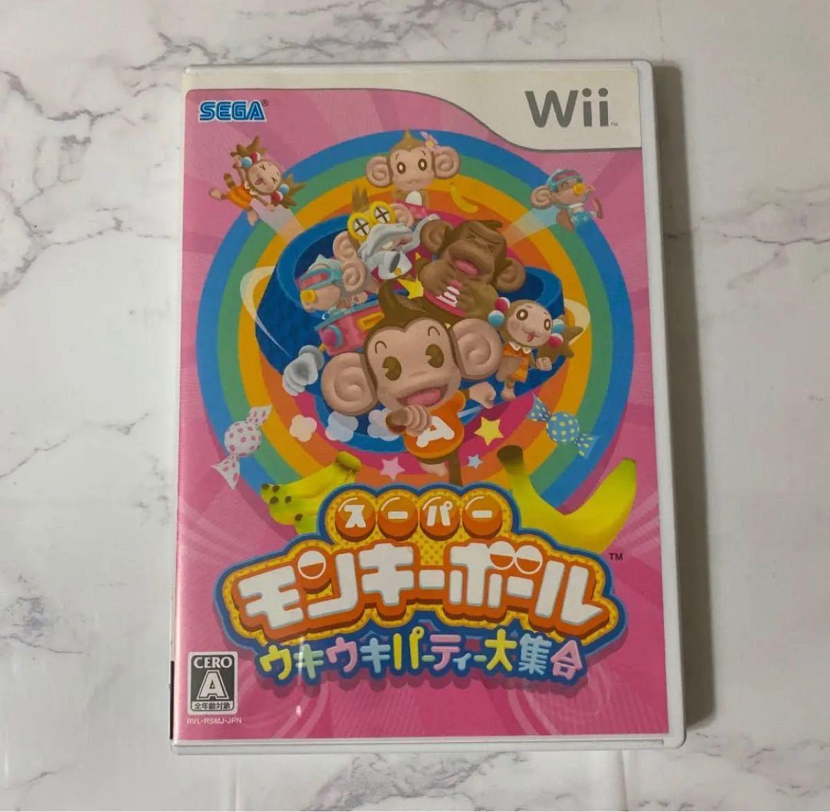 Wii カセット ウィー スーパーモンキーボールウキウキパーティー大集合 Wiiソフト Wii 任天堂