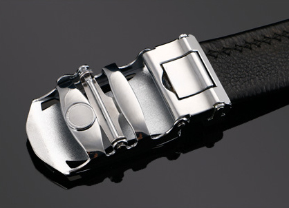 BT001 メンズ 高級本革 レザー ビジネス フォーマル ベルト 穴なし サイズオート調整可能 ブラック_画像5