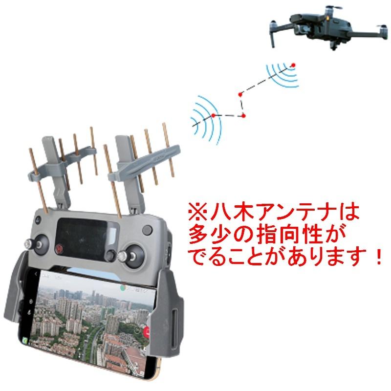 RSプロダクト 八木アンテナ!! 2.4G DJI ブースター 電波拡張 信号安定 信号増幅 Mavic Mini Air Pro 2 Spark