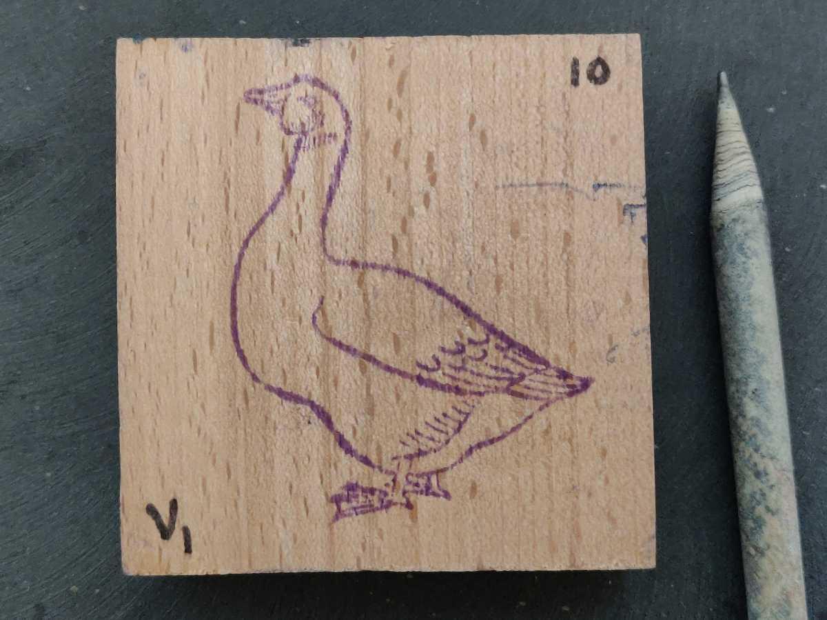 アヒル 鴨 鳥類 フランス アンティーク ナタン スタンプ ヴィンテージ ハンコ 農家 家畜 グース 雁 フレンチ ビンテージ 仏_画像2