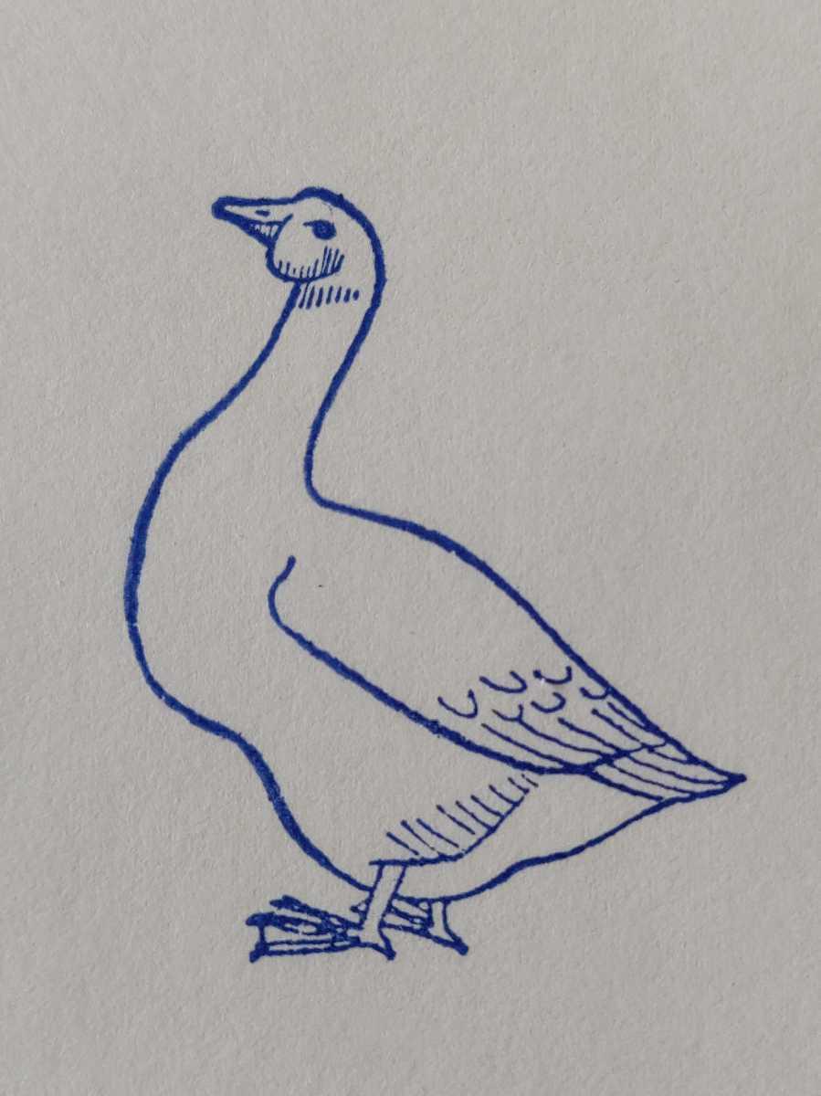 アヒル 鴨 鳥類 フランス アンティーク ナタン スタンプ ヴィンテージ ハンコ 農家 家畜 グース 雁 フレンチ ビンテージ 仏_画像3