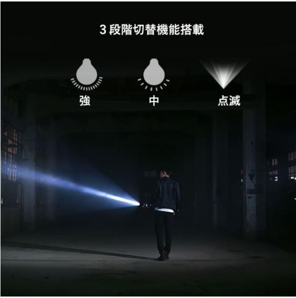 【お得な2個セット】3モードポータブルLED式懐中電灯ミニ懐中電灯 ミニライト ポータブルライト ピンク