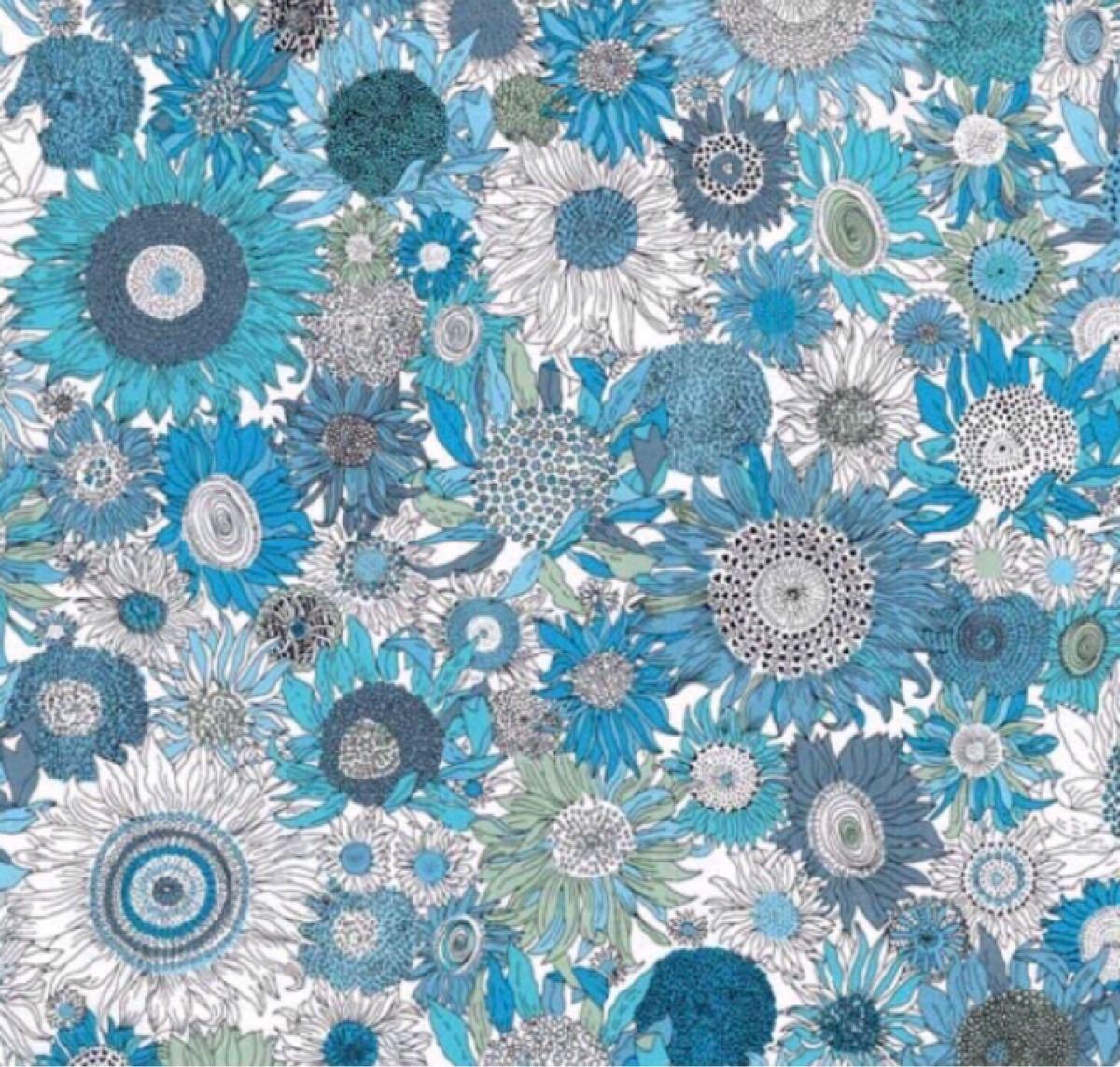 リバティ スモールスザンナ ブルー 生地幅×200cm 国産タナローン はぎれ カットクロス