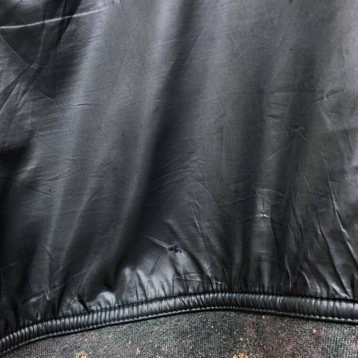 アディダス adidas ジャケット ジャージ スウェット ウィンドブレーカー ダウン 中綿 ブラック MA-1 ブルゾン メンズ Lサイズ 6-29_画像8