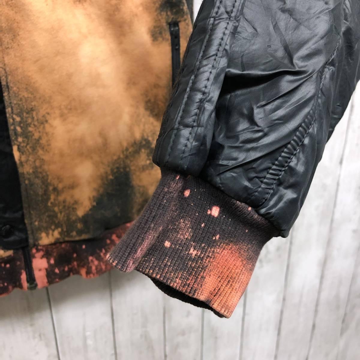 アディダス adidas ジャケット ジャージ スウェット ウィンドブレーカー ダウン 中綿 ブラック MA-1 ブルゾン メンズ Lサイズ 6-29_画像7
