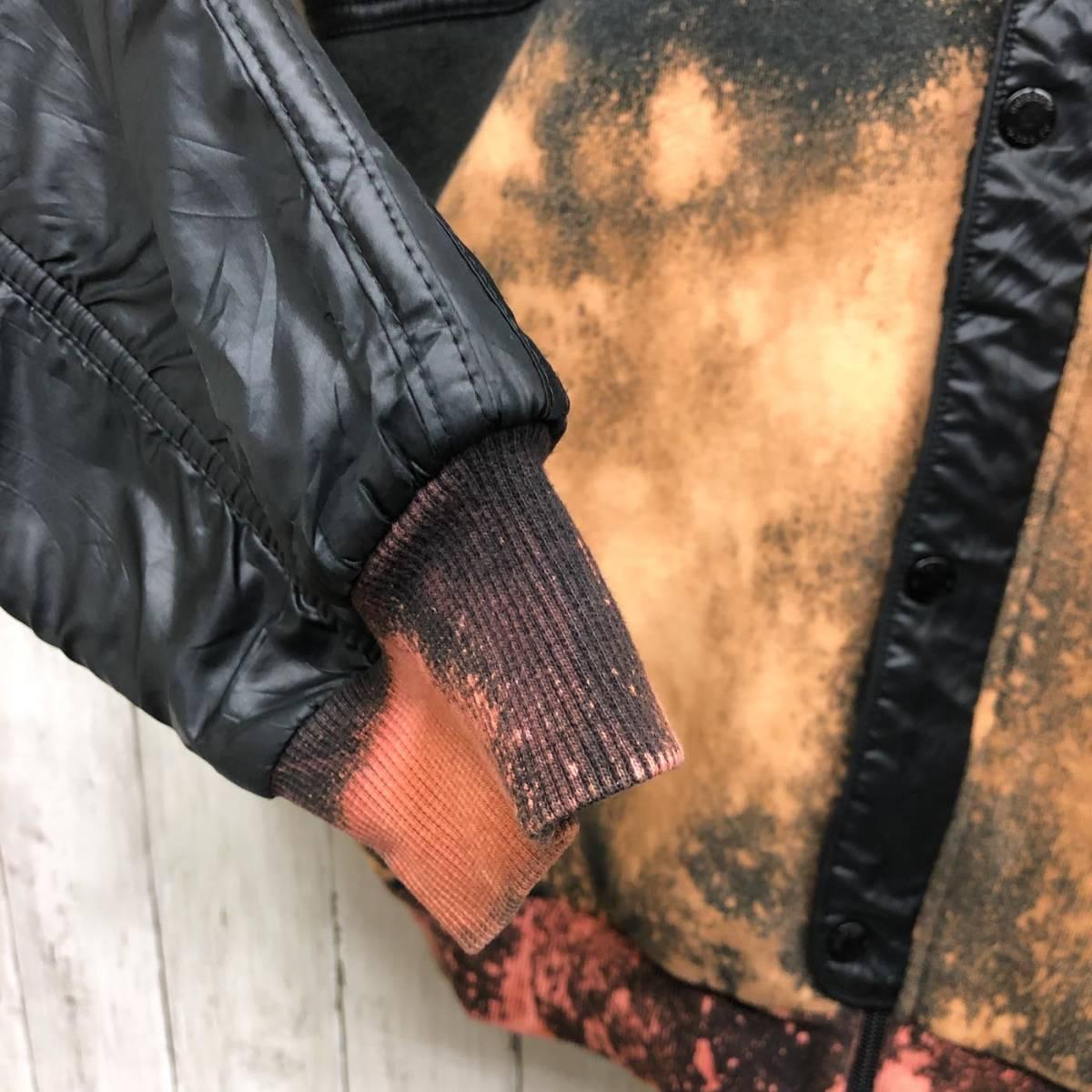 アディダス adidas ジャケット ジャージ スウェット ウィンドブレーカー ダウン 中綿 ブラック MA-1 ブルゾン メンズ Lサイズ 6-29_画像6