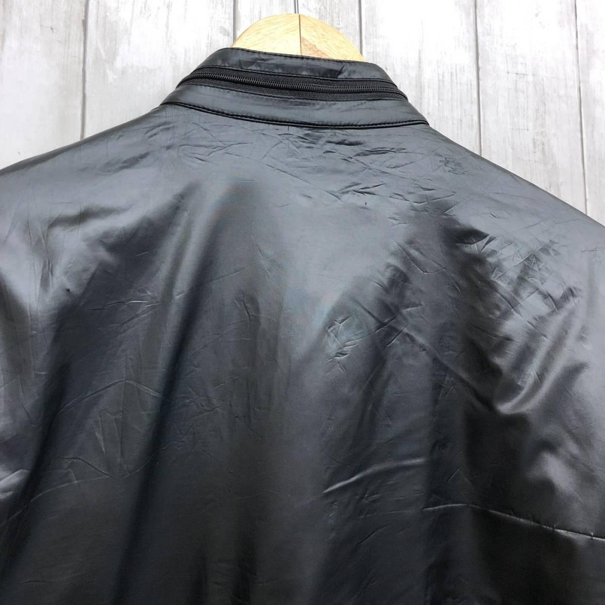 アディダス adidas ジャケット ジャージ スウェット ウィンドブレーカー ダウン 中綿 ブラック MA-1 ブルゾン メンズ Lサイズ 6-29_画像10