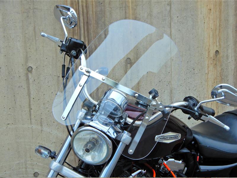 即納 送料無料 ハーレー 風防 ウィンドシールド スクリーン 防寒 疲労軽減 FXS ソフテイル ブラックライン 返品OK_画像2
