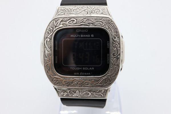 BGD-5000 カシオ カスタムGショック シルバー925 彫金 アラベスク 鑑定済 純銀 メンズ レディース ユニセックス G-SHOCKベビーG baby-G_画像5