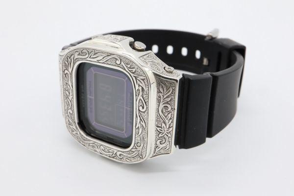 BGD-5000 カシオ カスタムGショック シルバー925 彫金 アラベスク 鑑定済 純銀 メンズ レディース ユニセックス G-SHOCKベビーG baby-G_画像6