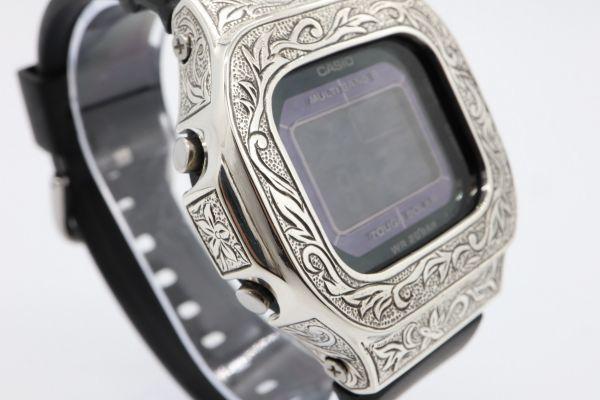 BGD-5000 カシオ カスタムGショック シルバー925 彫金 アラベスク 鑑定済 純銀 メンズ レディース ユニセックス G-SHOCKベビーG baby-G_画像4