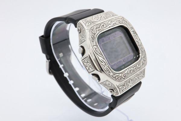 BGD-5000 カシオ カスタムGショック シルバー925 彫金 アラベスク 鑑定済 純銀 メンズ レディース ユニセックス G-SHOCKベビーG baby-G_画像3