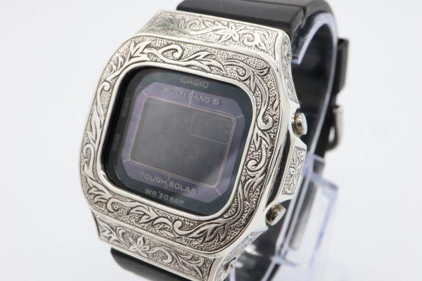 BGD-5000 カシオ カスタムGショック シルバー925 彫金 アラベスク 鑑定済 純銀 メンズ レディース ユニセックス G-SHOCKベビーG baby-G_画像2