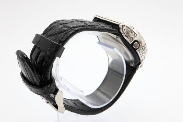 BGD-5000 彫金カスタムGショック シルバー925 純銀 クロコベルト 鏡面加工 鑑定済 メンズ レディース ユニセックス G-SHOCKベビーG_画像6