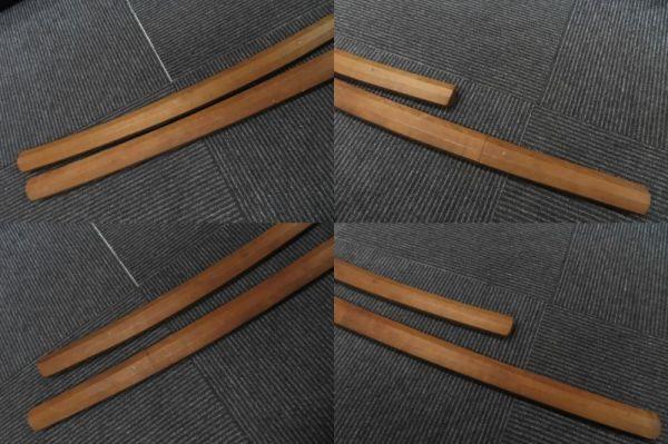 3604/ms/02.10 模造刀 日本刀 太刀 全長100cm 小太刀68cm 置物 2本 セット(30469)_画像7