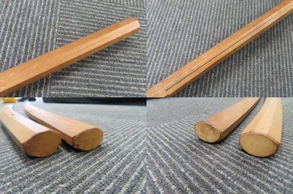 3604/ms/02.10 模造刀 日本刀 太刀 全長100cm 小太刀68cm 置物 2本 セット(30469)_画像4