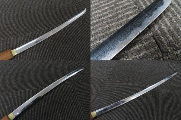 3604/ms/02.10 模造刀 日本刀 太刀 全長100cm 小太刀68cm 置物 2本 セット(30469)_画像6