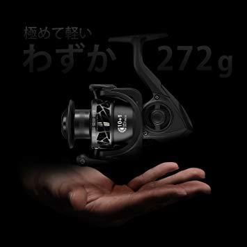 4000番. 4000 ピシファン(Piscifun)スピニングリール CarbonX 超軽量165g 淡水釣り海釣り ギア比5_画像2