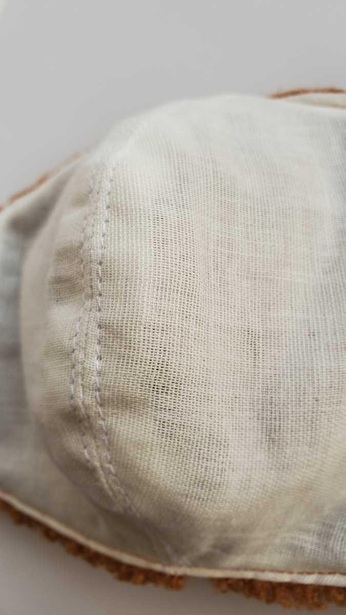 冬用立体マスクカバー アニマルフェイス風(くま)⑫ 動物の顔風 モコモコ生地 ボア生地 ファー生地 通気性の良いダブルガーゼ裏地_画像10
