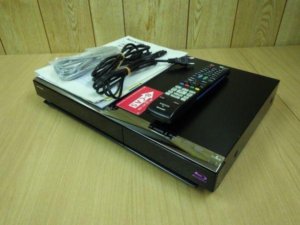 難あり■SHARP シャープ AQUOS アクオス 2番組同時録画 ブルーレイレコーダー HDD/320G B-CASカード/リモコン付 BD-HDW43■_画像1