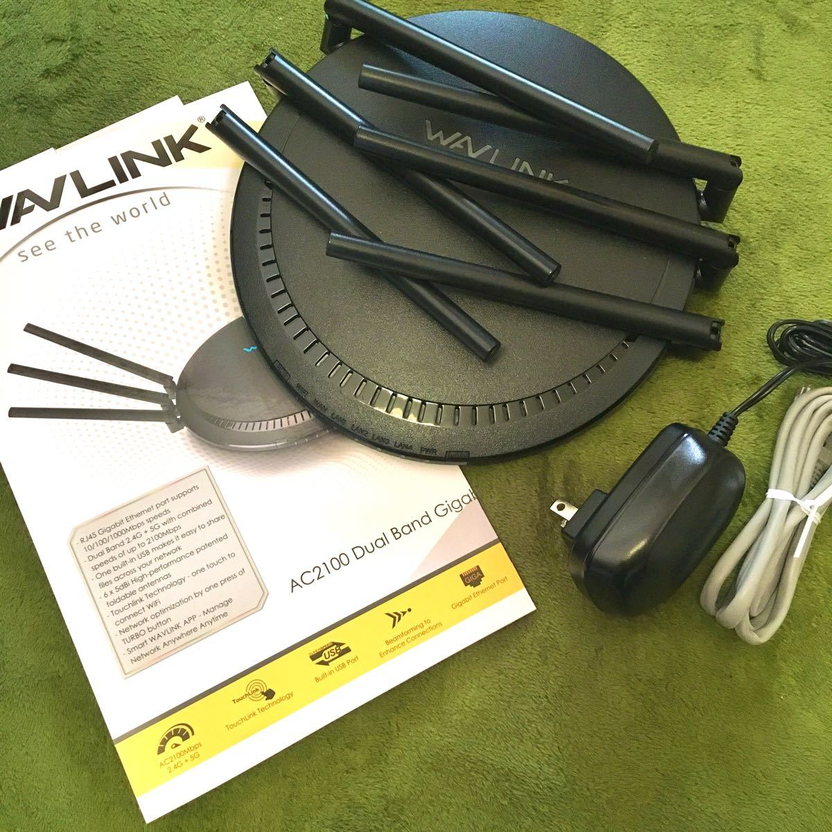 WAVLINK AC2100 WiFi無線LANルーター 11ac・ デュアルバンド(1733 + 800 )日本語説明書付き