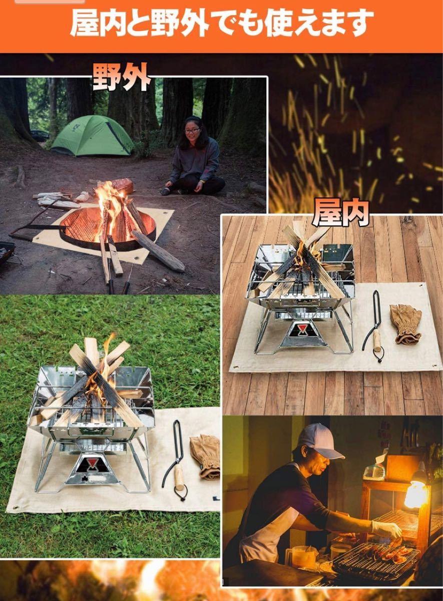 焚き火台シート たき火シート スパッタシート ガラス繊維シート 極厚 防炎 耐熱