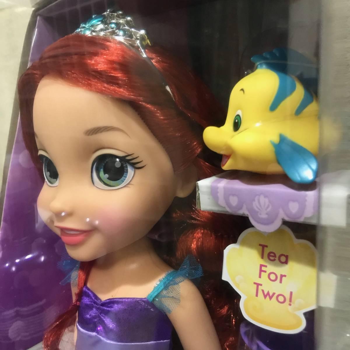 送料無料 新品 トドラードール お顔が可愛い アリエル 人形 ティーカップ & フランダー 付き ディズニープリンセス DISNEY 送料込み_画像1