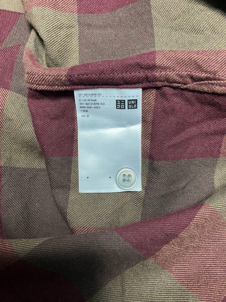 uniqlo u ユニクロユー ワイドフィットフランネルチェックシャツ オンラインストア限定XXL_画像5
