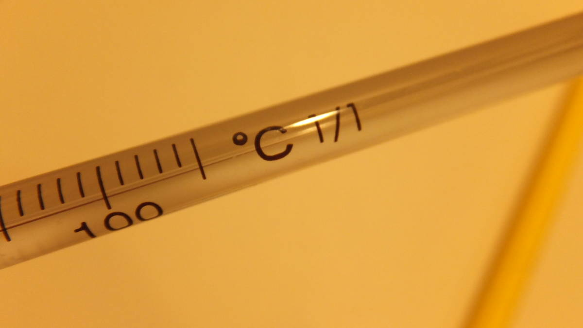 ★IC CORPORATION ★ Glass rod thermometer ガラス棒状温度計 ℃ -20度から+100度  USED IN JAPAN 長さ約30Cm Temperature Celsius_画像4