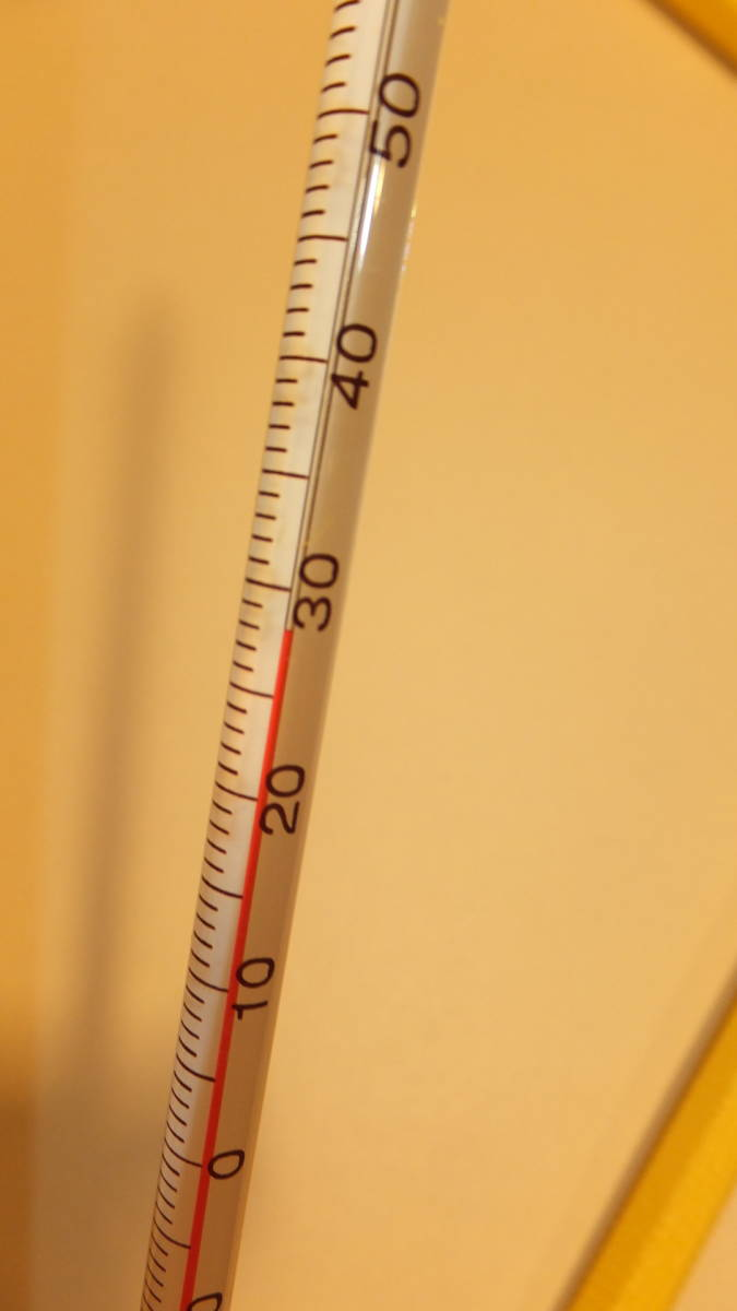 ★IC CORPORATION ★ Glass rod thermometer ガラス棒状温度計 ℃ -20度から+100度  USED IN JAPAN 長さ約30Cm Temperature Celsius_画像2