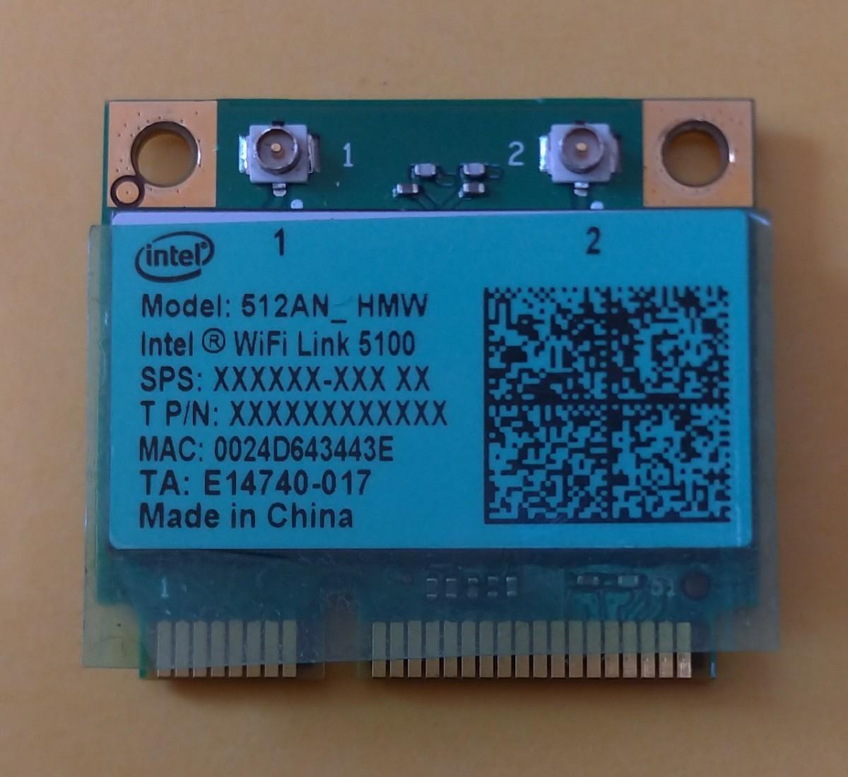 無線LAN WIFIカード Intel 512AN_HMW