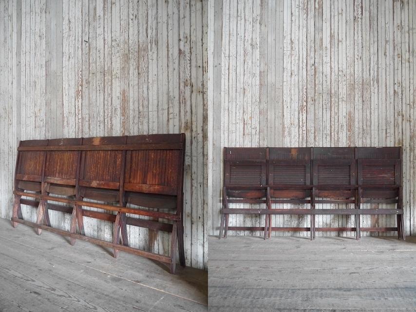 アンティークフォールディングウッドベンチ[asc1-270]スツール椅子インダストリアルビンテージコレクションチェアディスプレイインテリア_画像7