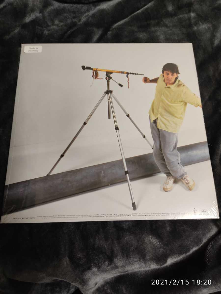 ポールマッカートニー 限定カラー レコード 「パイプスオブピース」シルバー 送料無料 ウイングス 180g