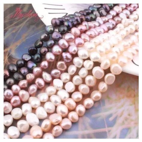 【送料無料】7-8mm 淡水 パール 不規則 形状 ジュエリー用 DIY ネックレス ブレスレット イヤリング 天然石ビーズ h00096_画像3