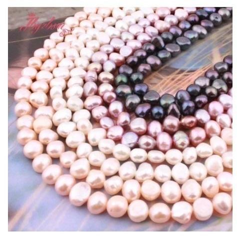 【送料無料】7-8mm 淡水 パール 不規則 形状 ジュエリー用 DIY ネックレス ブレスレット イヤリング 天然石ビーズ h00096_画像2